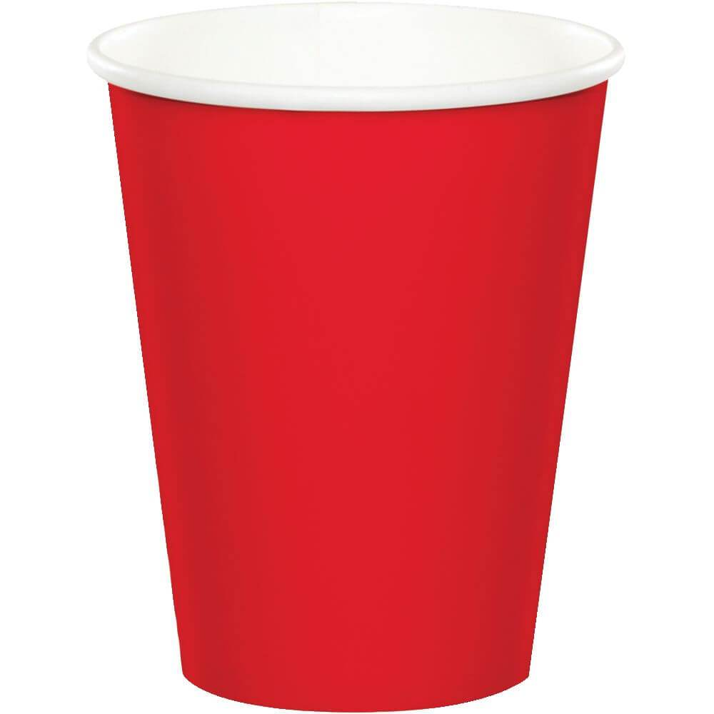 Classic Red Paper Cups 9oz, 24ct