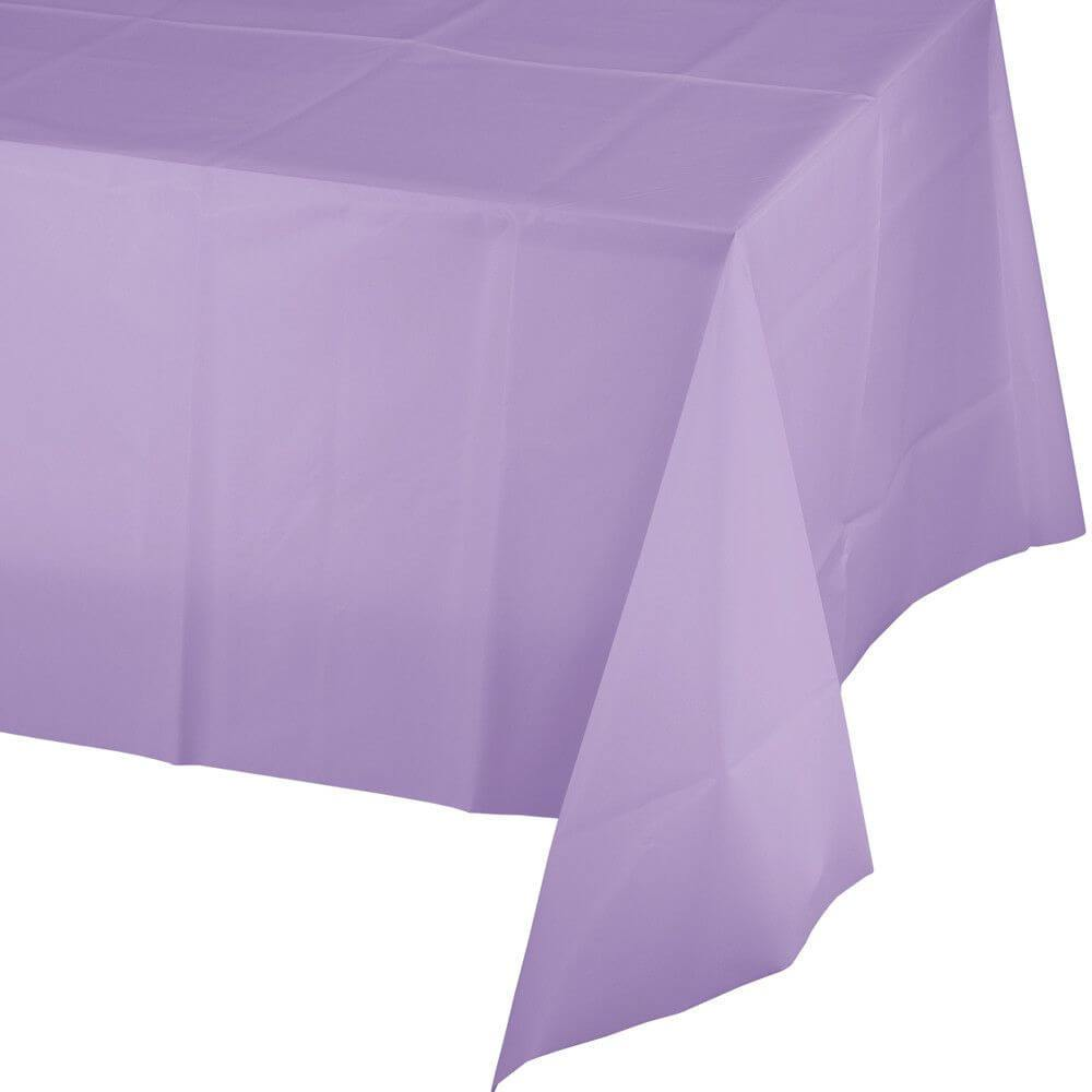 Plastic Rectangular Tablecover 54in x 108in,  Luscious Lavender