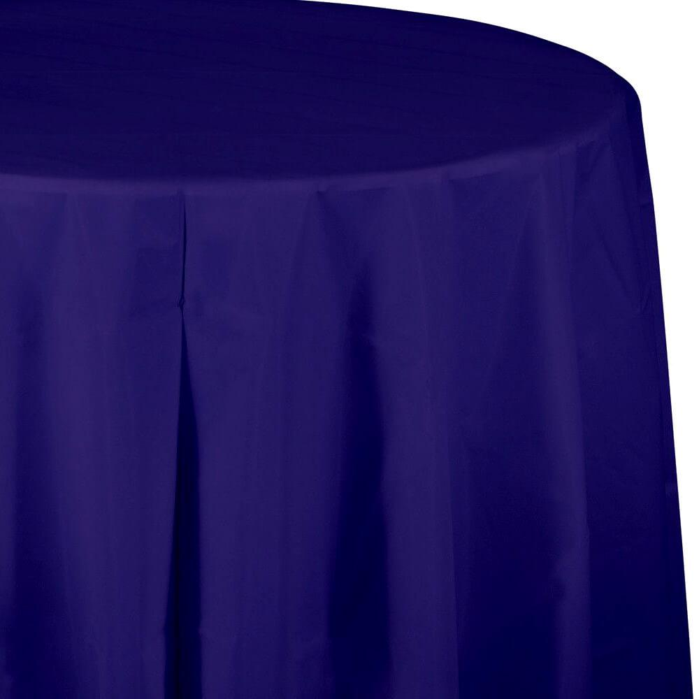 Plastic Rectangular  Tablecover 82in,  Purple