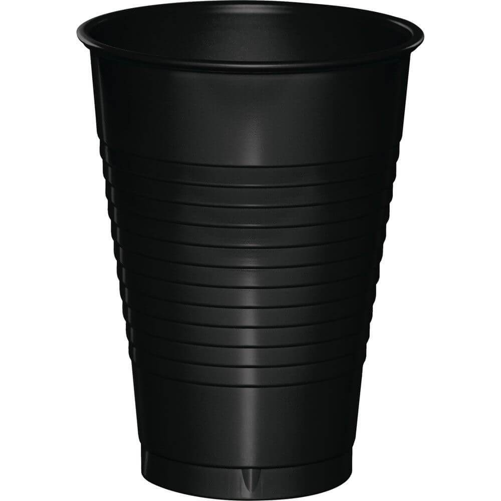 Black Velvet Plastic Cups 12oz 20ct