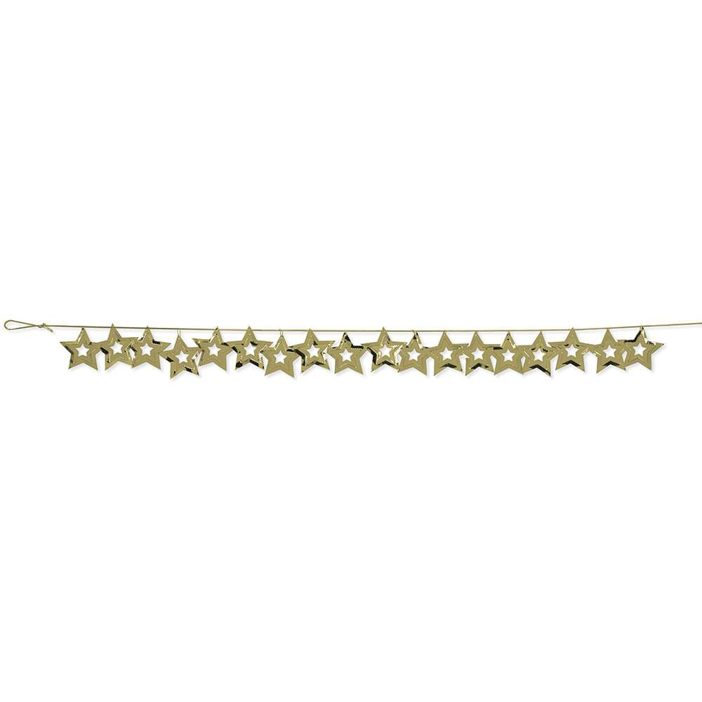 Confetti Garland 9ft Gold Star