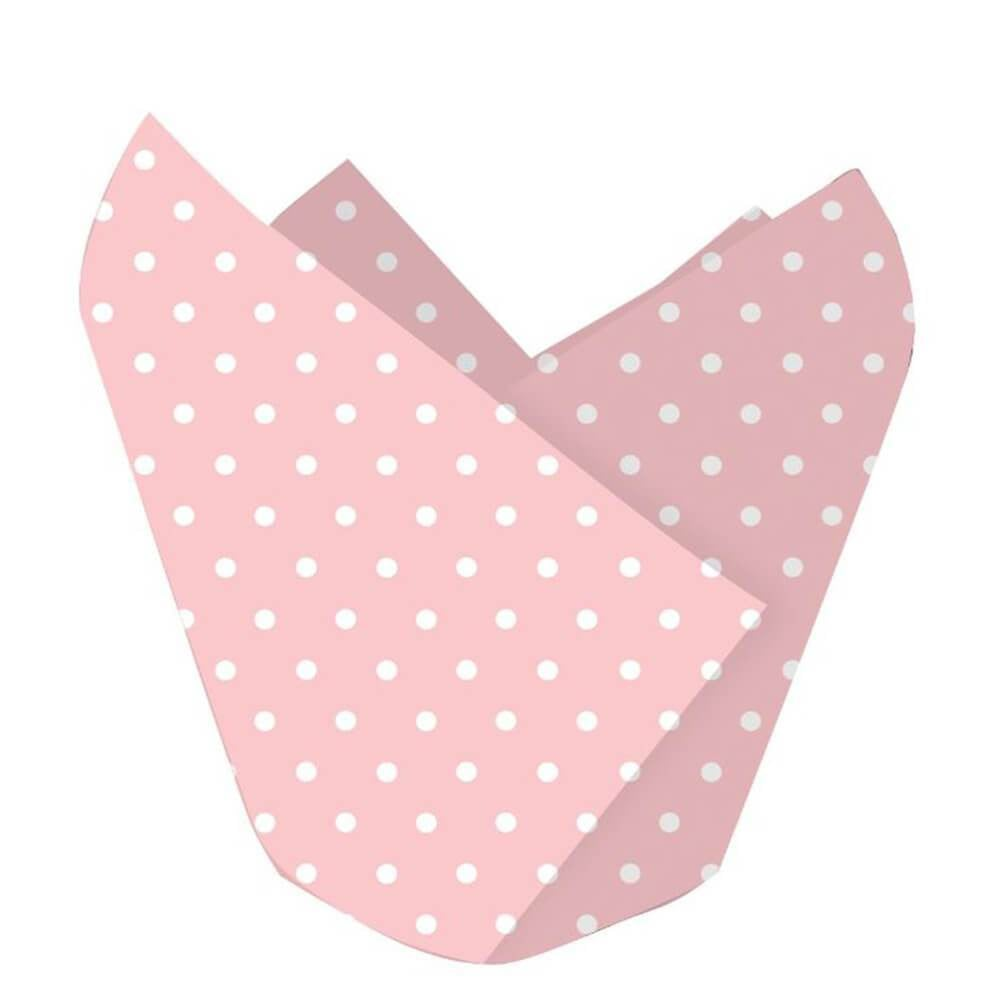 Baking Cups 12ct, Polka Dot Classic Pink