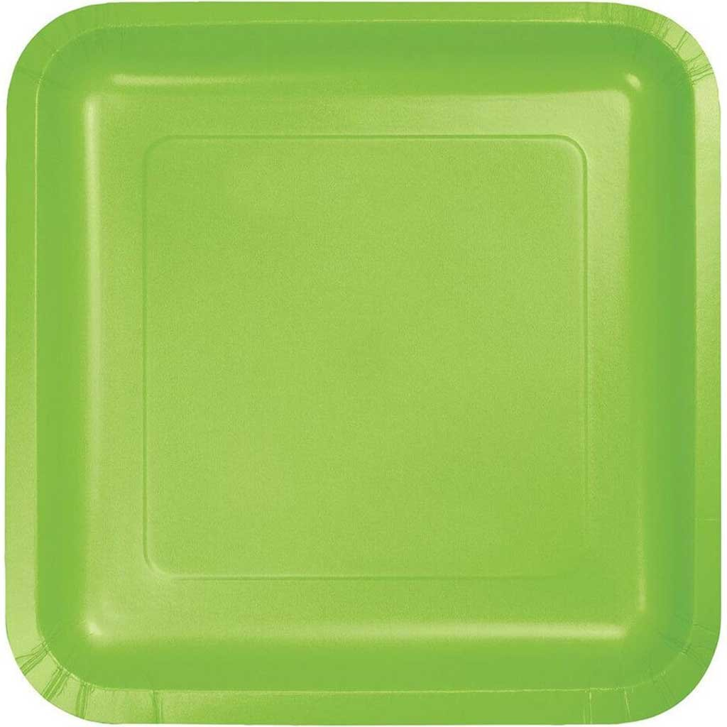 Fresh Lime Paper Dinner Plates 9in 18ct