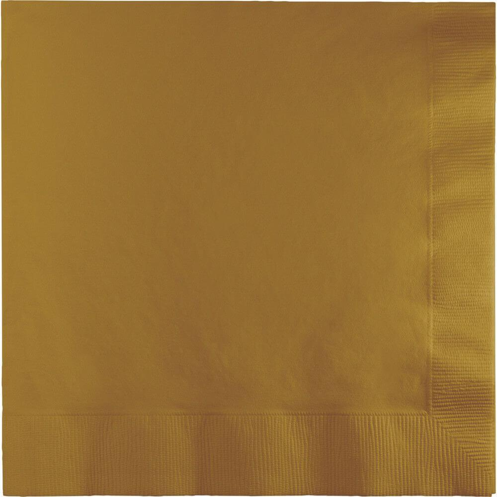 Glittering Gold 3Ply Luncheon Napkins 50ct