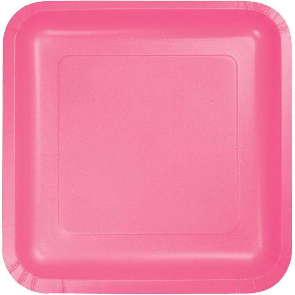 Paper Lunch Plates 7in 18ct, Candy Pink