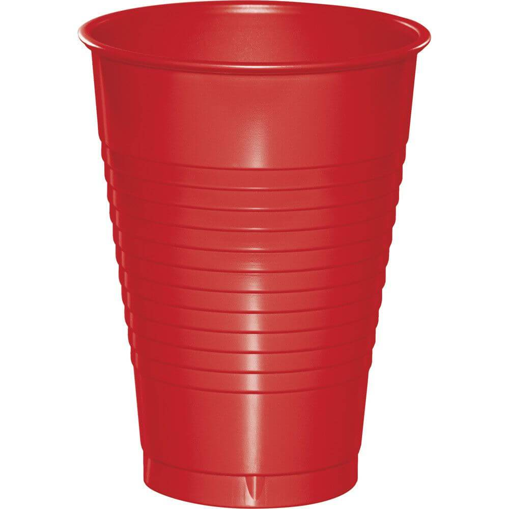 Classic Red Plastic Cups 12oz, 20ct