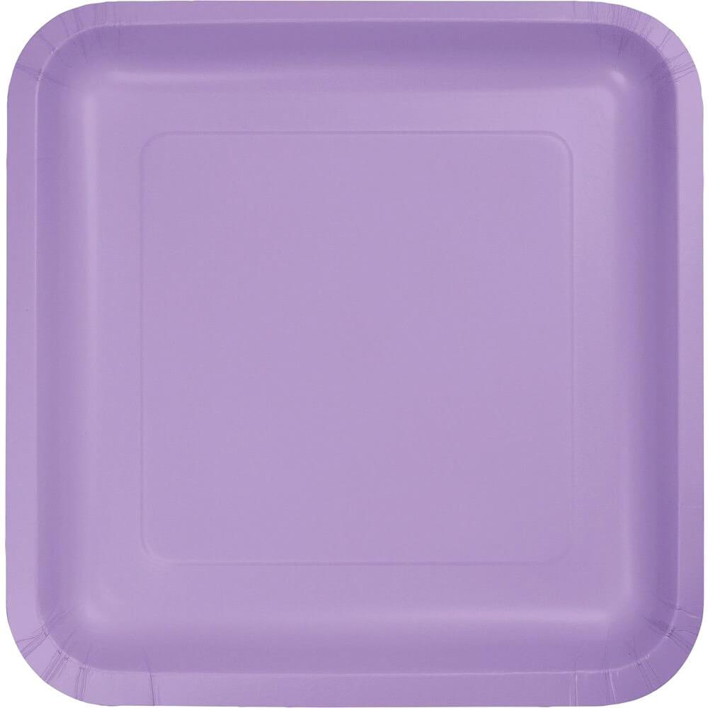 Paper Dinner Plates 9in 18ct, Luscious Lavender