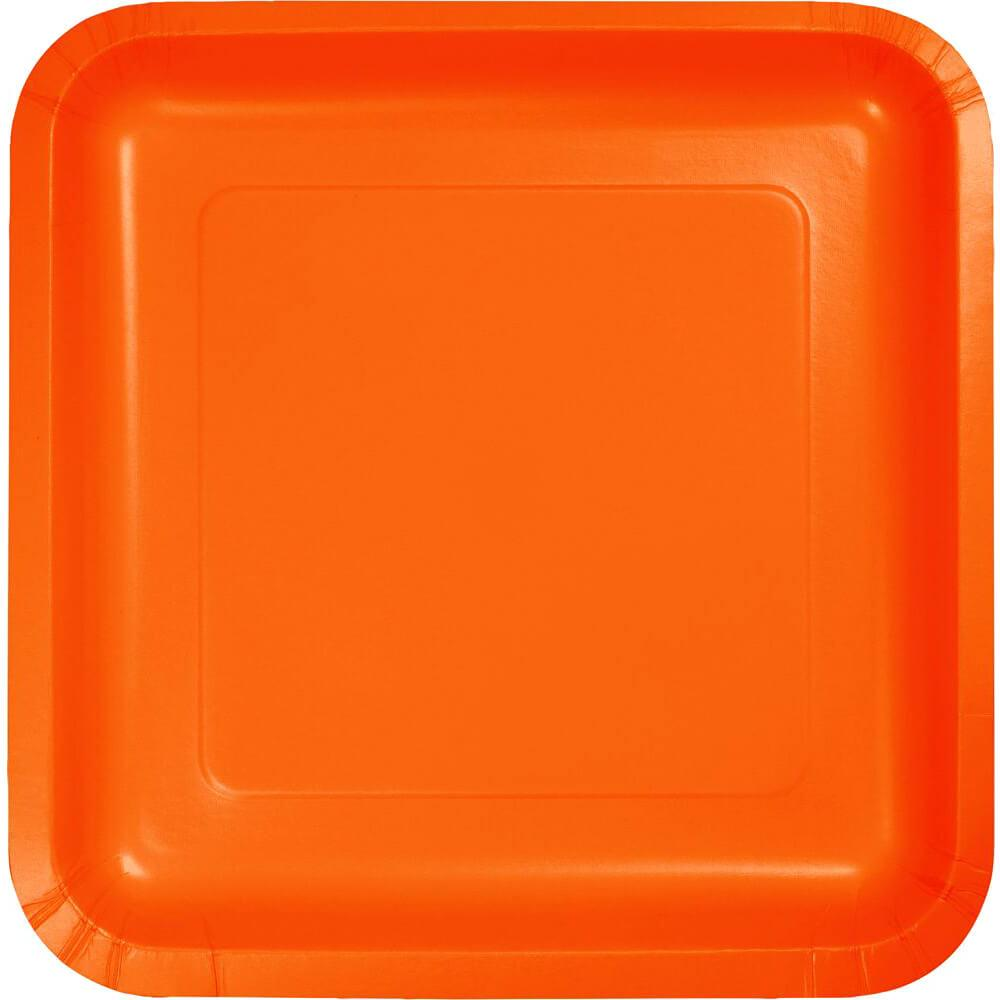 Lunch Plates 7in 18ct, Sunkissed Orange