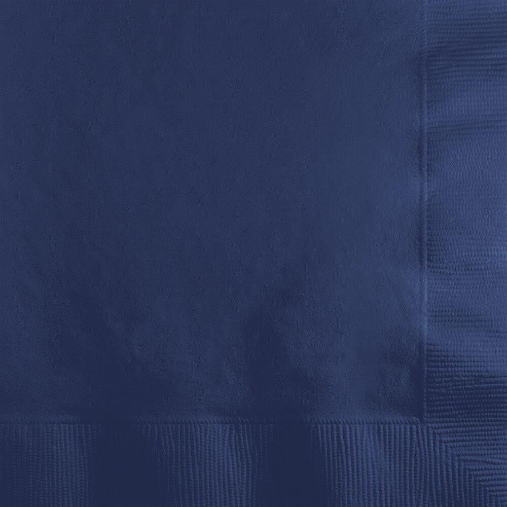 Beverage Napkins 3ply 50ct, Navy Blue