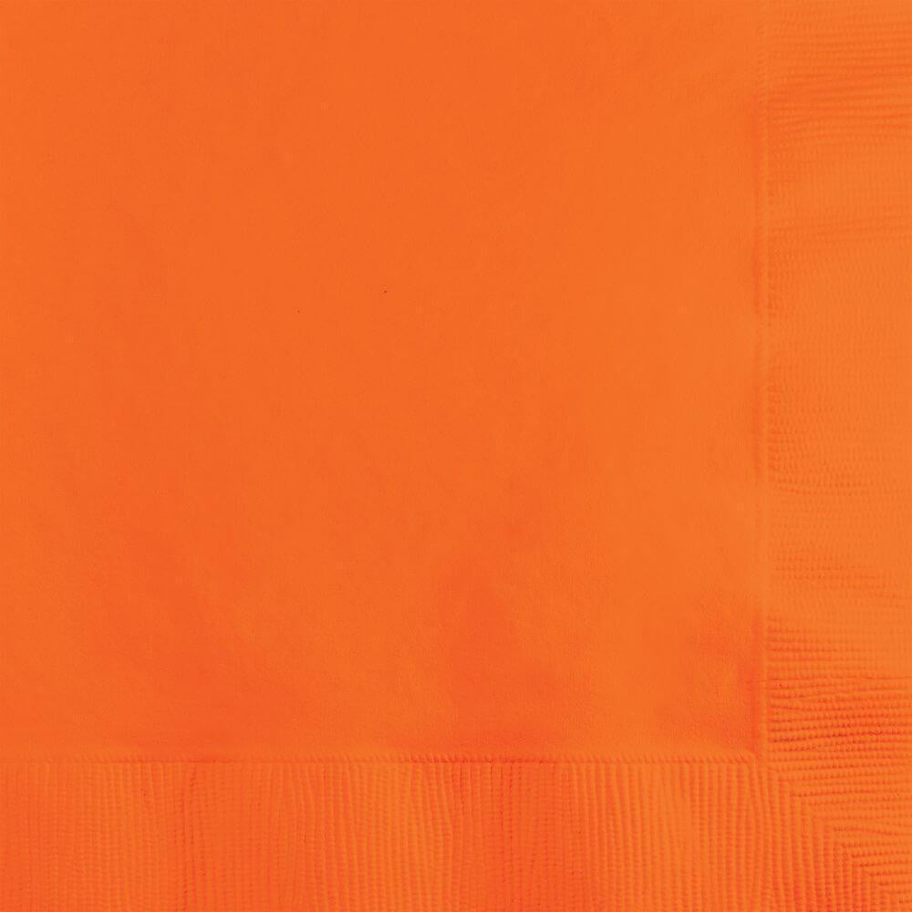 Beverage Napkins 3ply 50ct, Sunkissed Orange