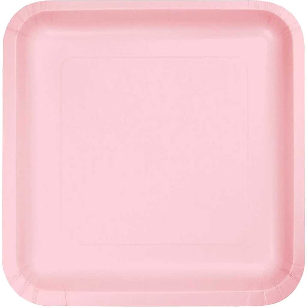 Lunch Plates 7in 18ct, Classic Pink