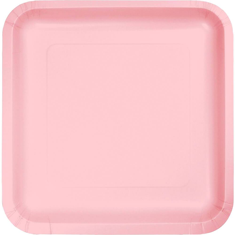 Paper Dinner Plates 9in 18ct, Classic Pink