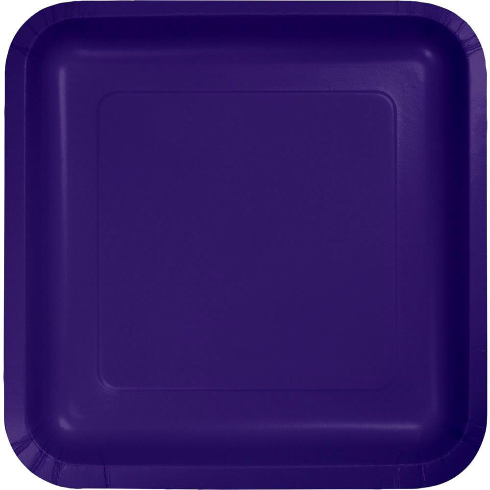 Paper Lunch Plates 7in 18ct, Purple