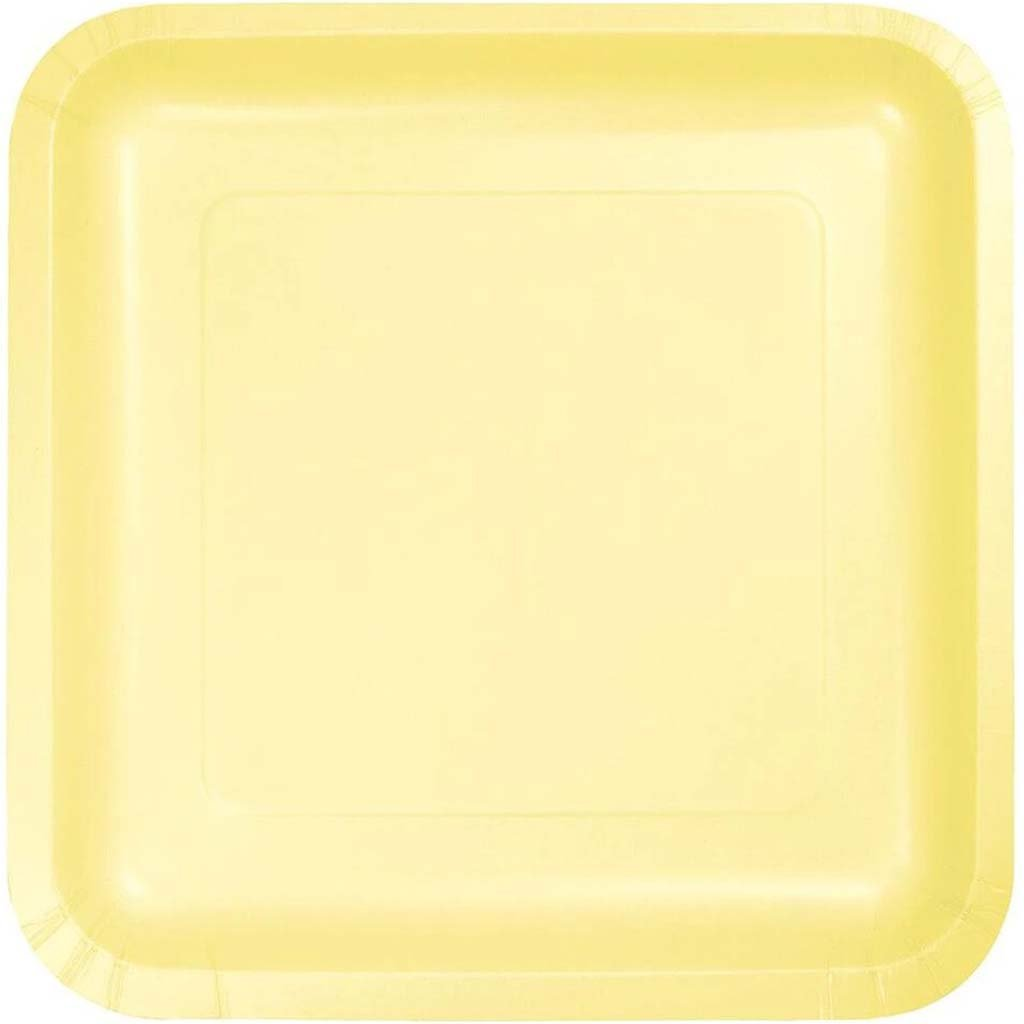 Paper Lunch Plates 7in 18ct, Mimosa