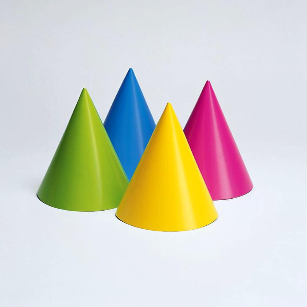 Neon Colors Party Hats Assorted