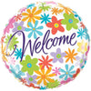 WELCOME FLOWER FOIL BALLOON 18IN