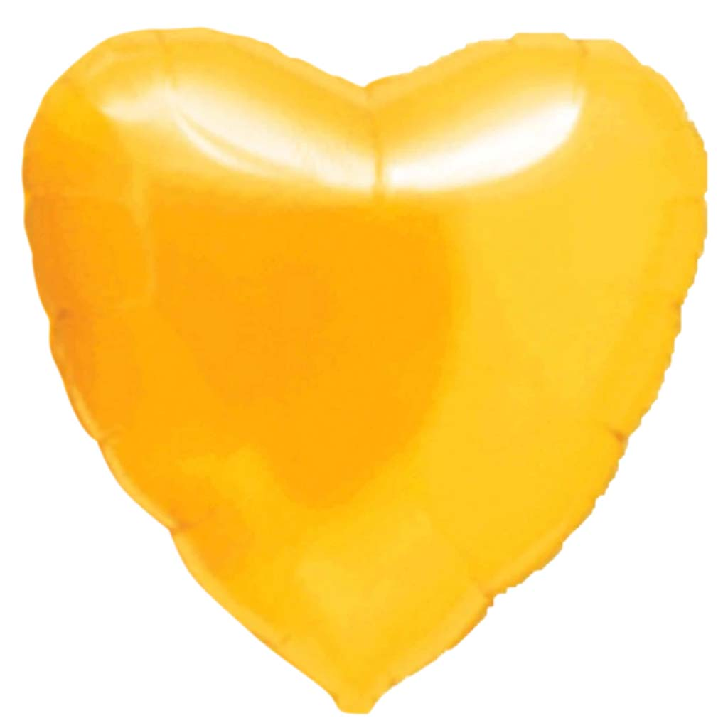 Foil Balloon Heart Citrine Yellow 18in