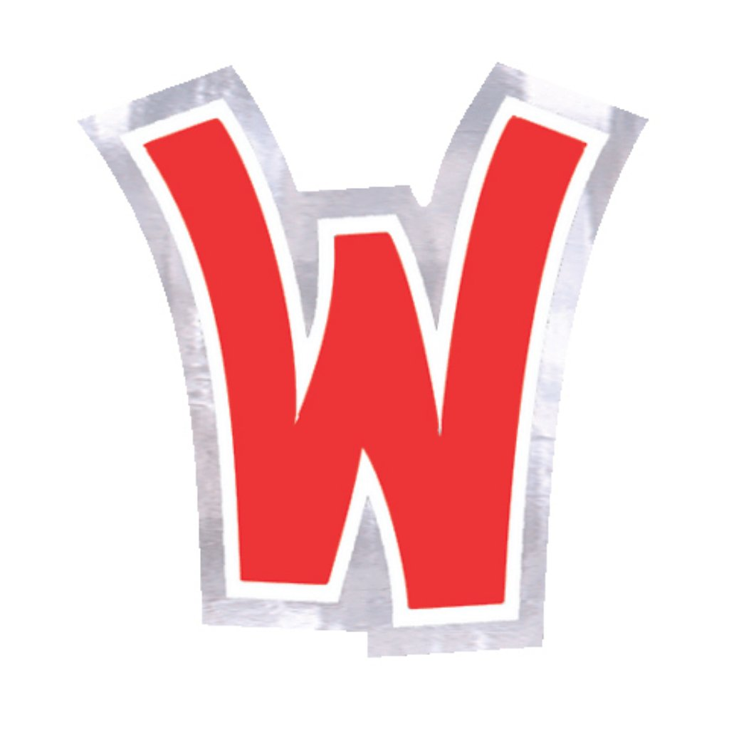 Balloon Stickers  Letter - W