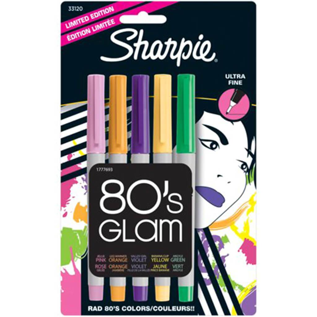 80's Glam Colors Ultra Fine Point Markers Pens