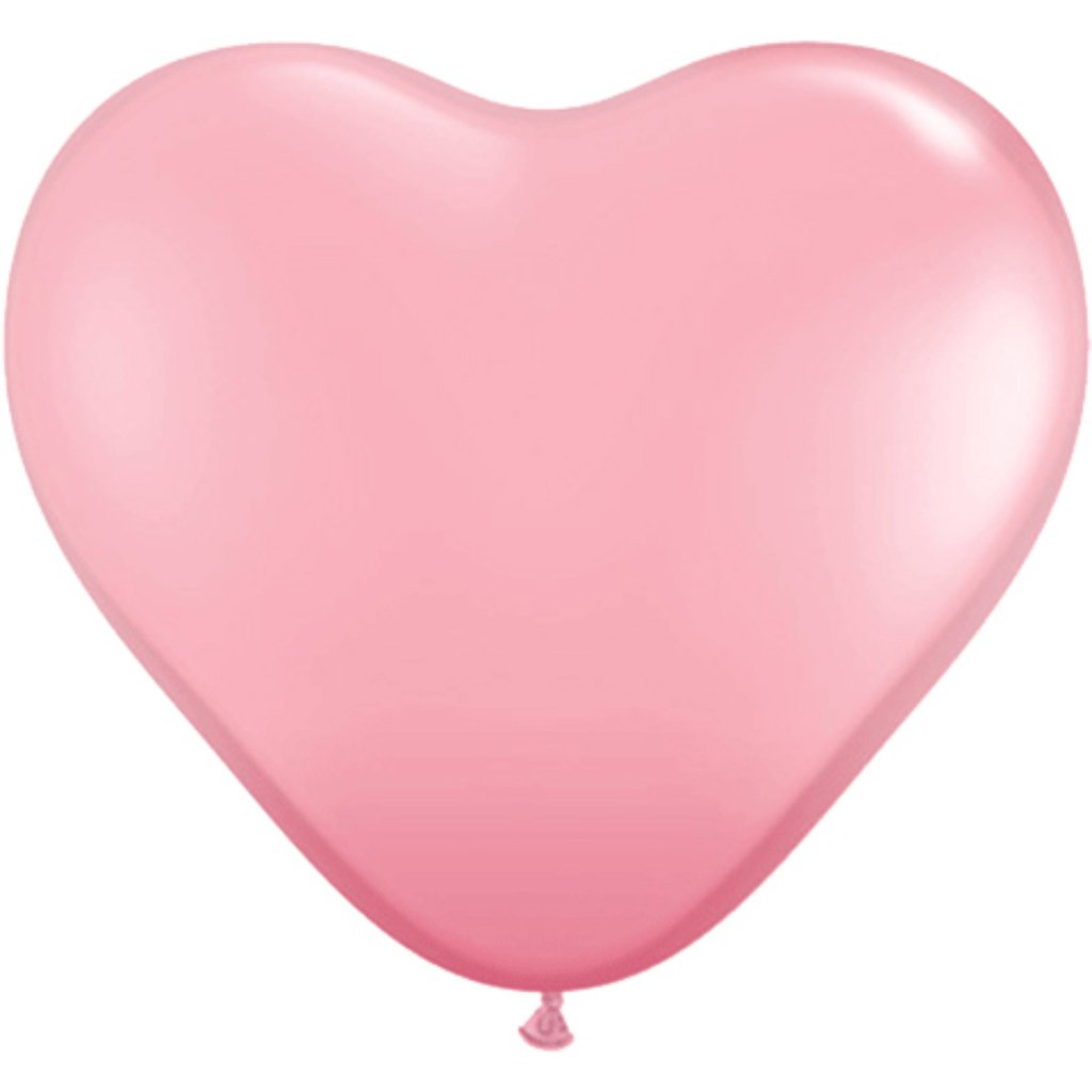 Latex Balloon Heart Pink 11in