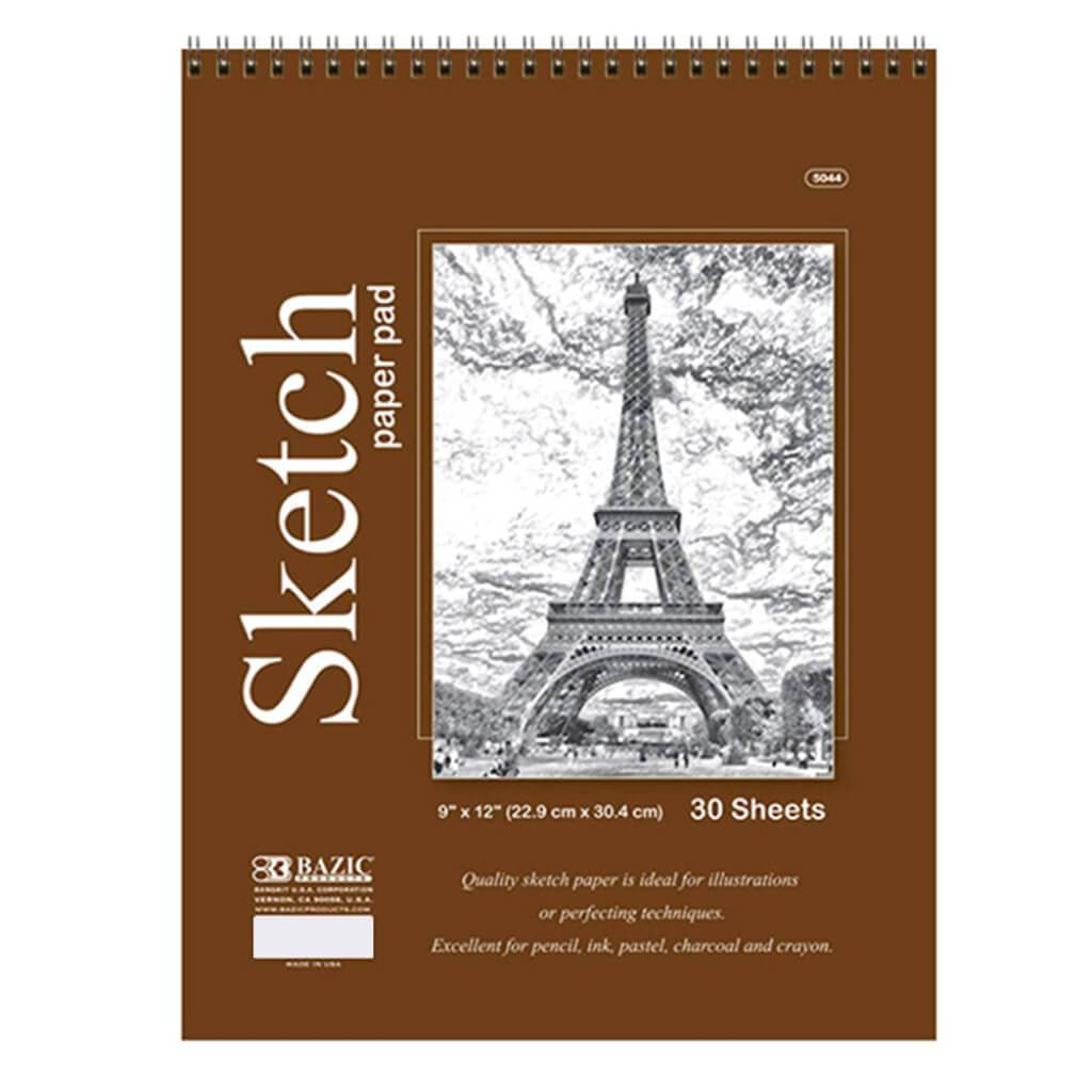Top Bound Spiral Premium Sketch Pad 9in x 12in 30ct