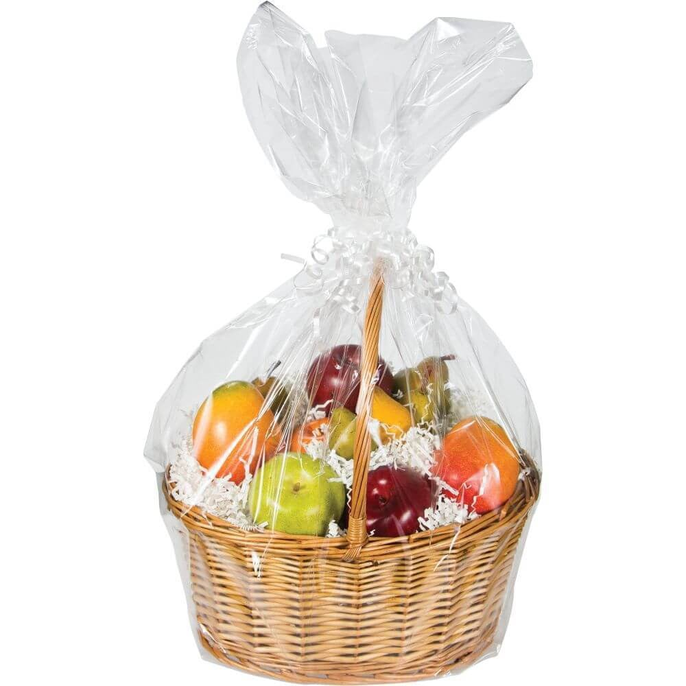 Cello Basket Bags, Clear