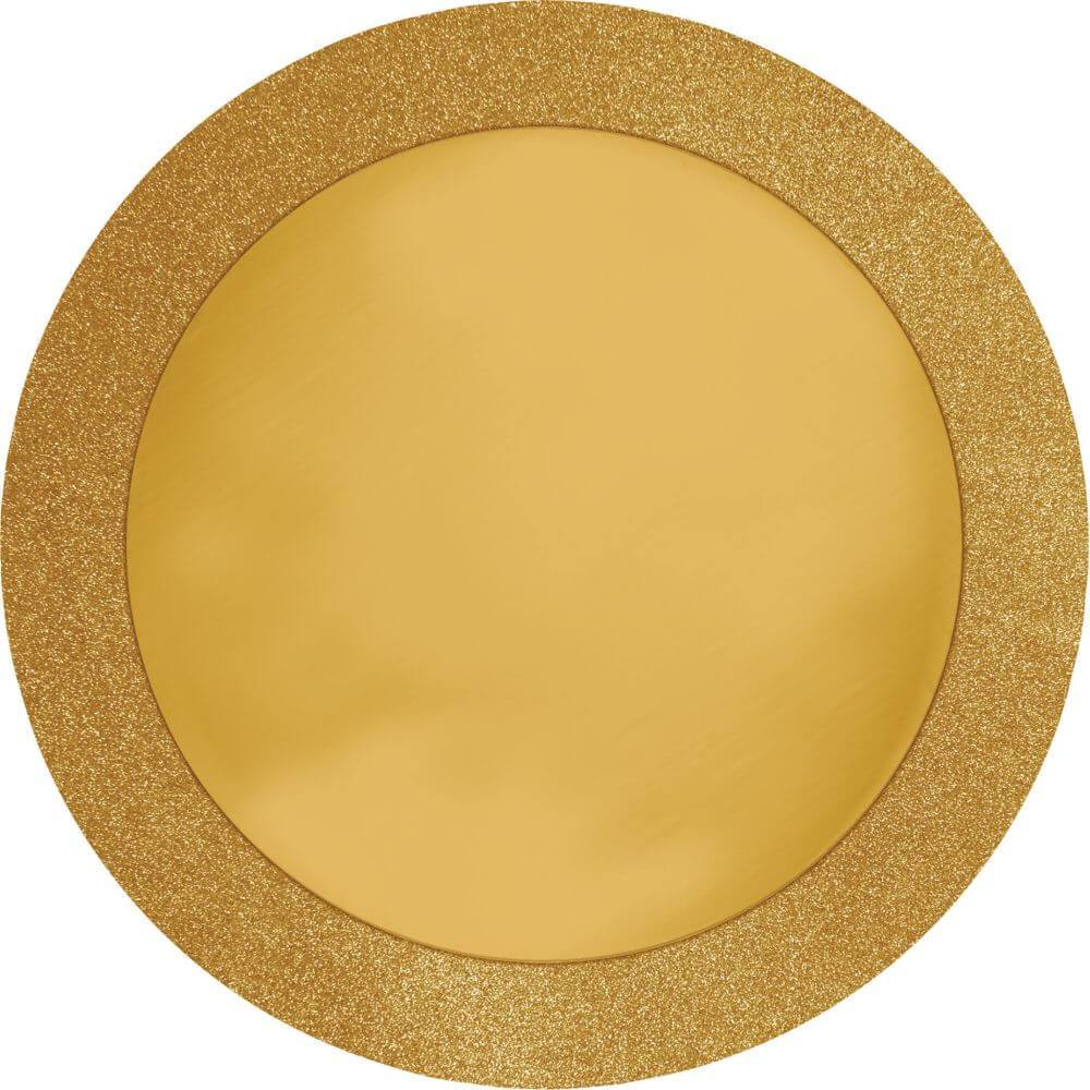 Palcemats 14in, Glitz Gold