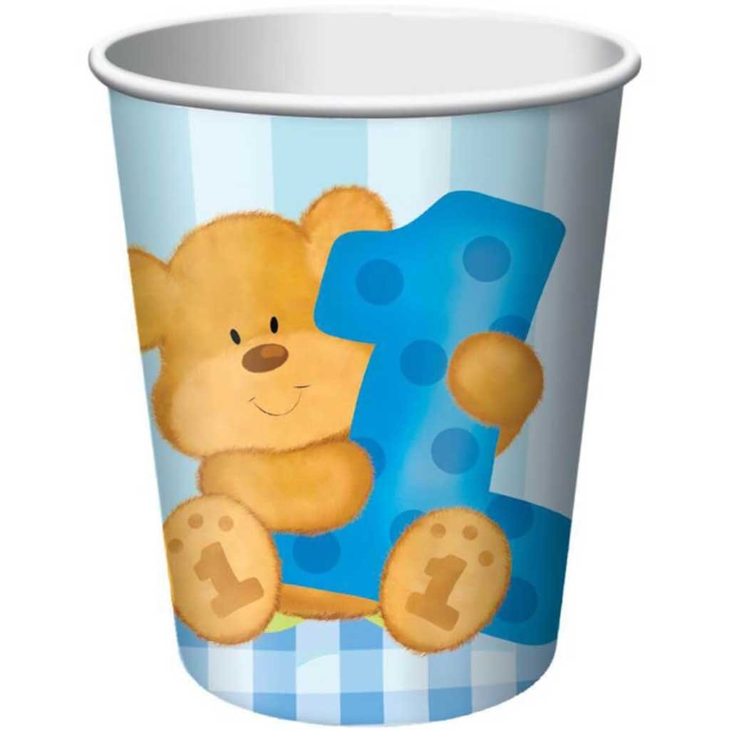 Bears 1st Bday Boy, Paper Cups 9oz 8ct