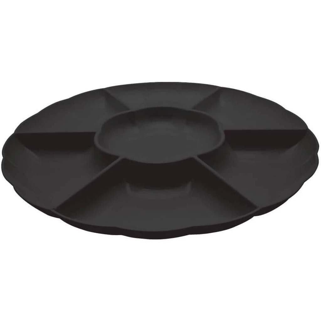 6 Compartment Tray 16in, Black