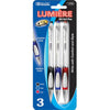 Retractable Oil Gel Ink Pen with Grip 3pcs