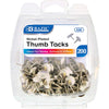 Thumb Tacks Nickel 200ct