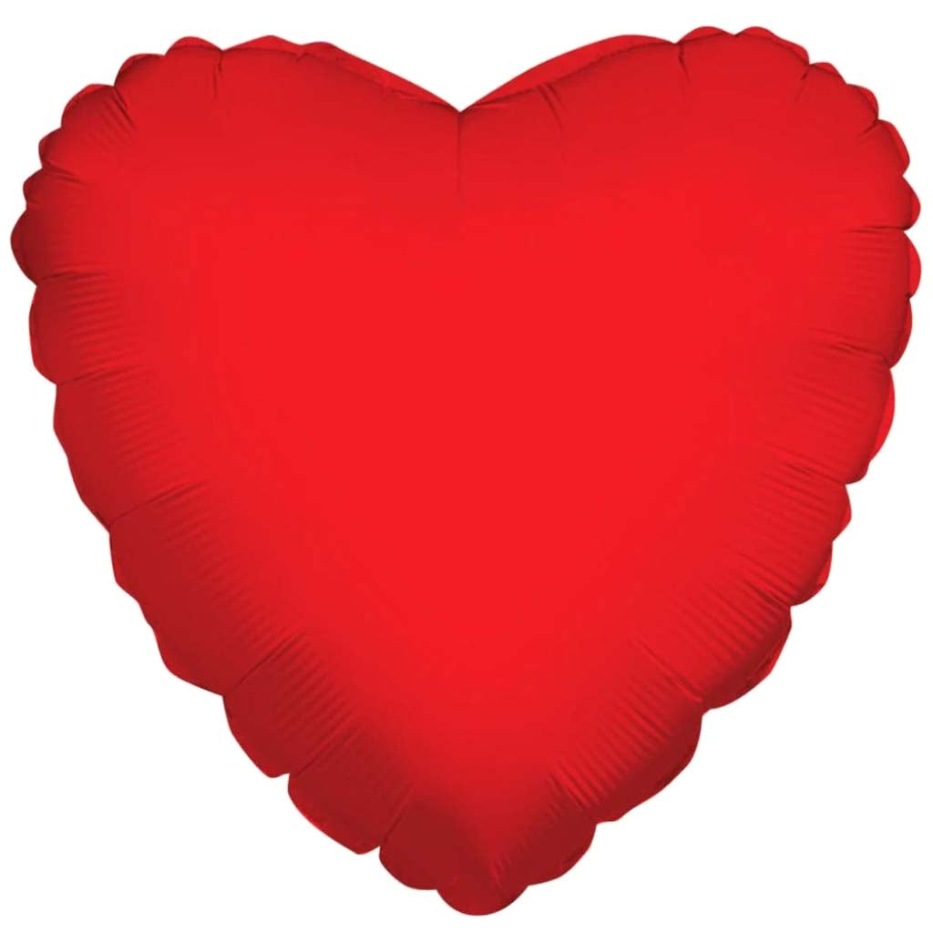 Foil Balloon Heart Red 18in