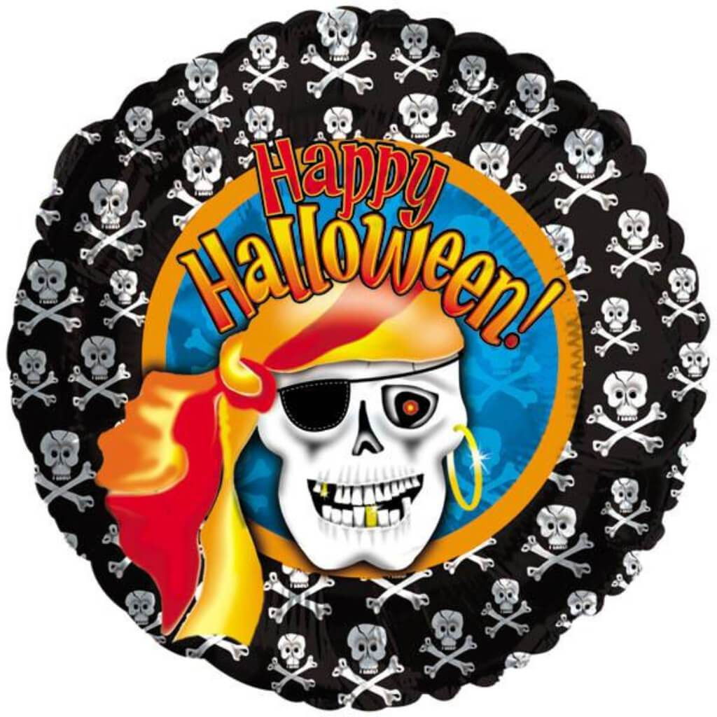 Halloween Pirate Skeleton Foil Balloon 18in