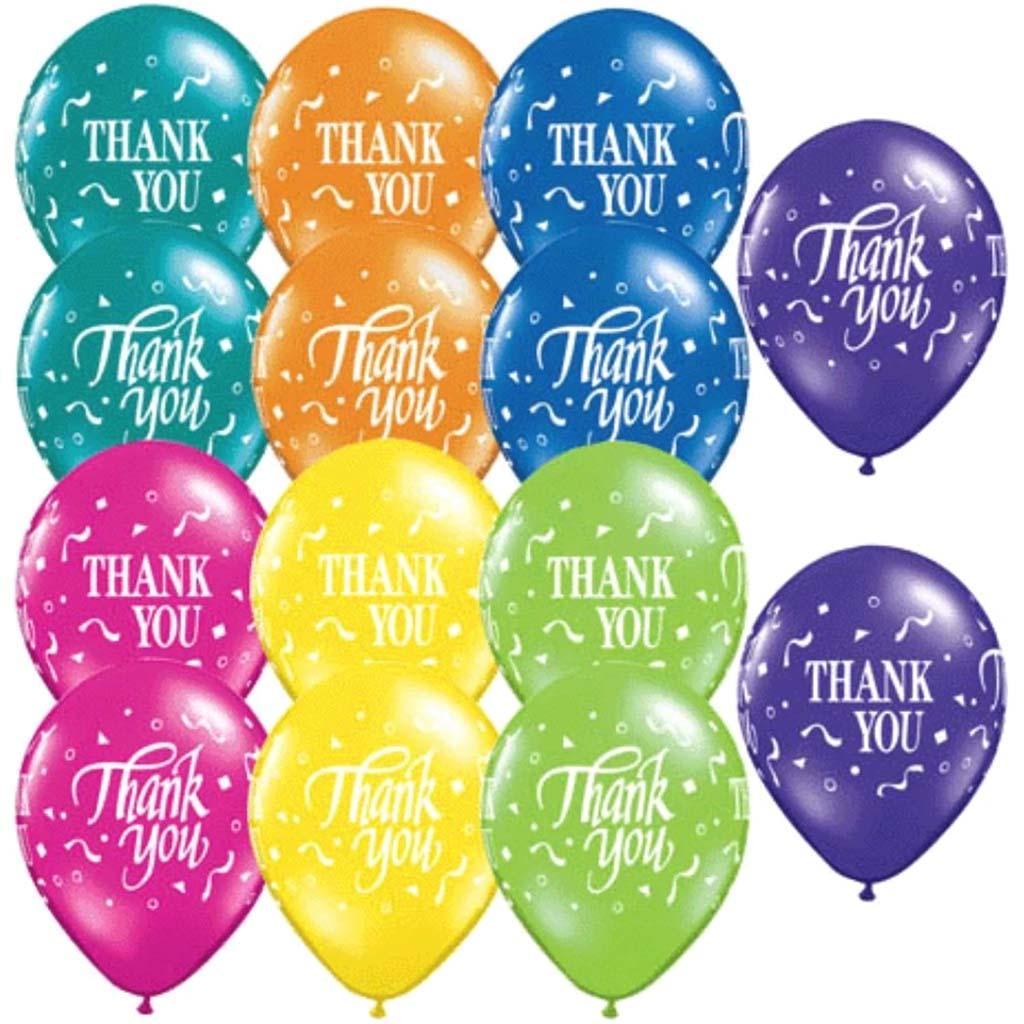 Thank You Confetti Latex Balloon 11in