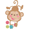 WELCOME BABY MONKEY FOIL BALLOON 40IN