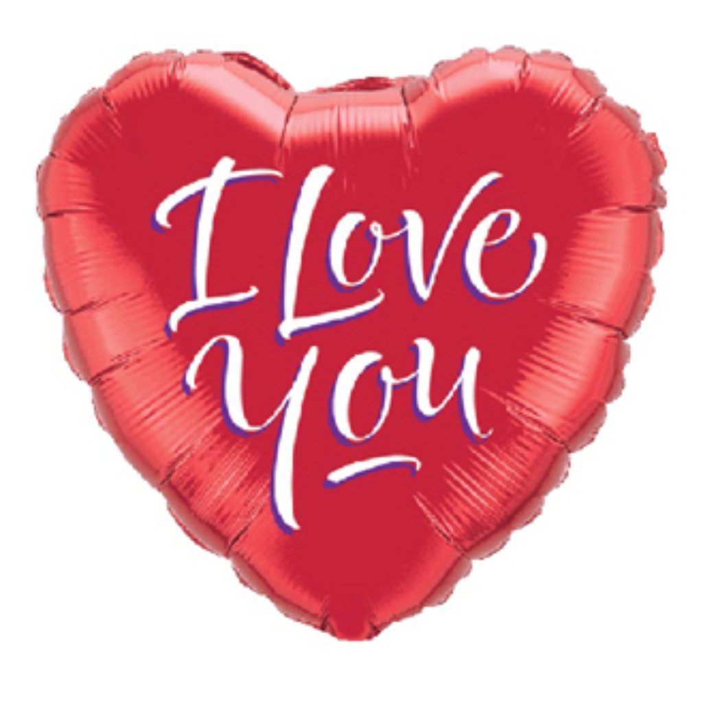 I Love You Red Heart Foil Balloon 18in