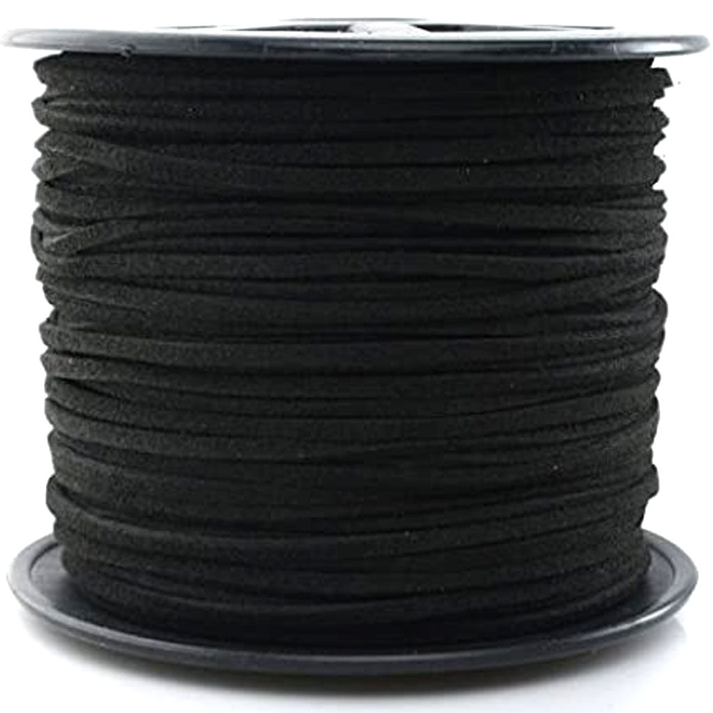 Cord Suede 1mm x 2yd Black