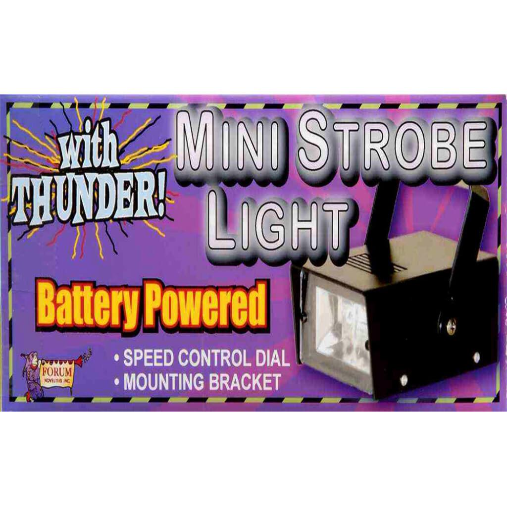 Mini Strobe Light with Thunder Sound Effects