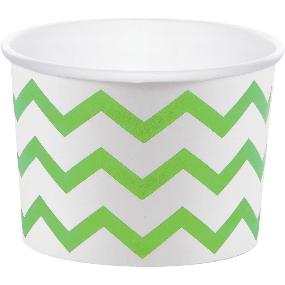Lime 9oz White Treat Cups