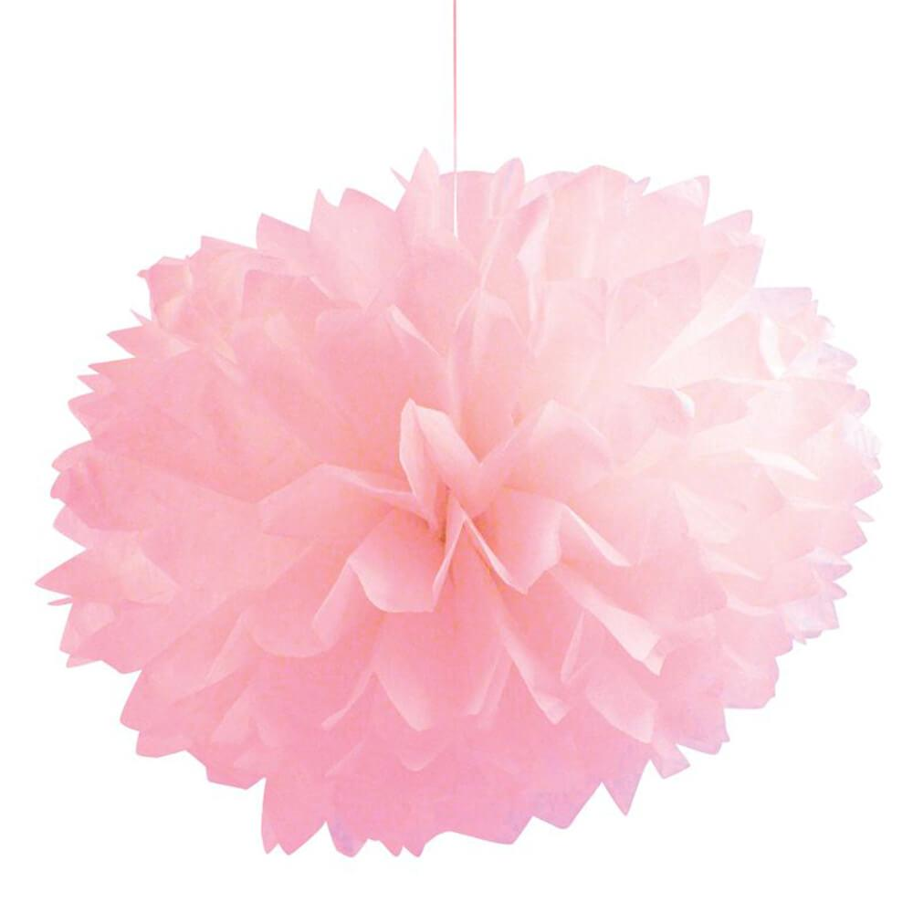 Tissue Balls Classic Pink 16In