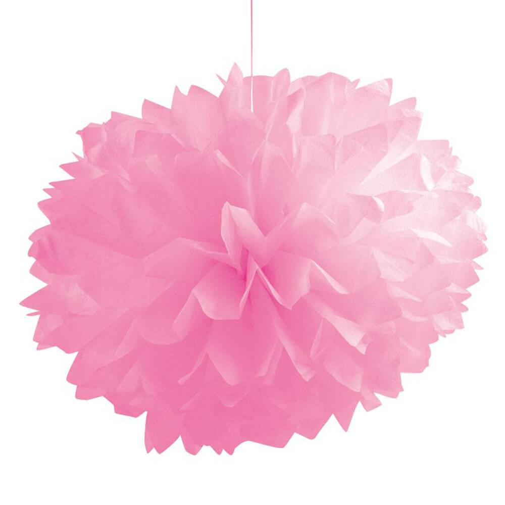 Tissue Balls Fluffy Candy Pink 16In