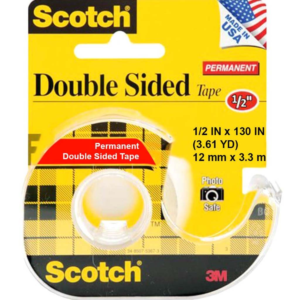 Double-Sided Permanent Tape In Dispensers 1/2in x 130in