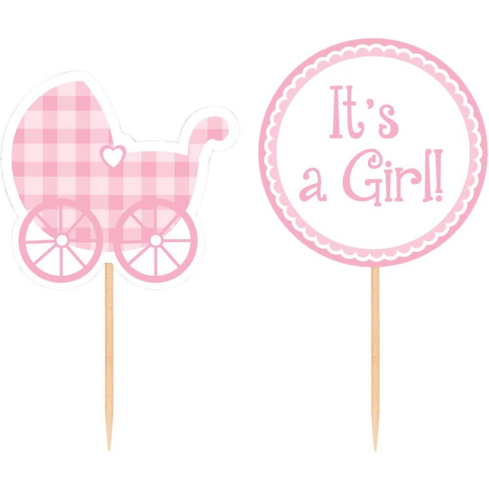 Baby Girl Cupcake Picks