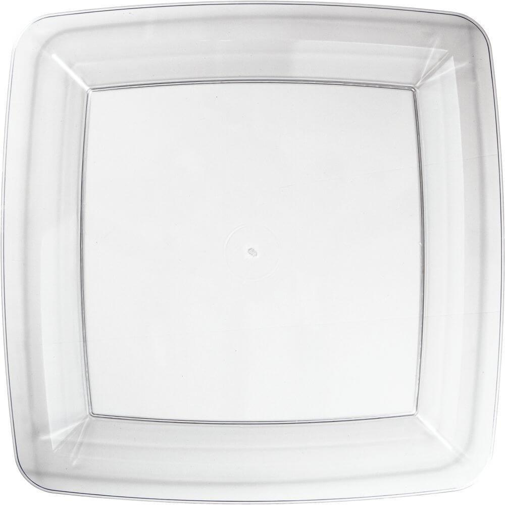 Plastic Lunch Plates 7in 12ct, Clear