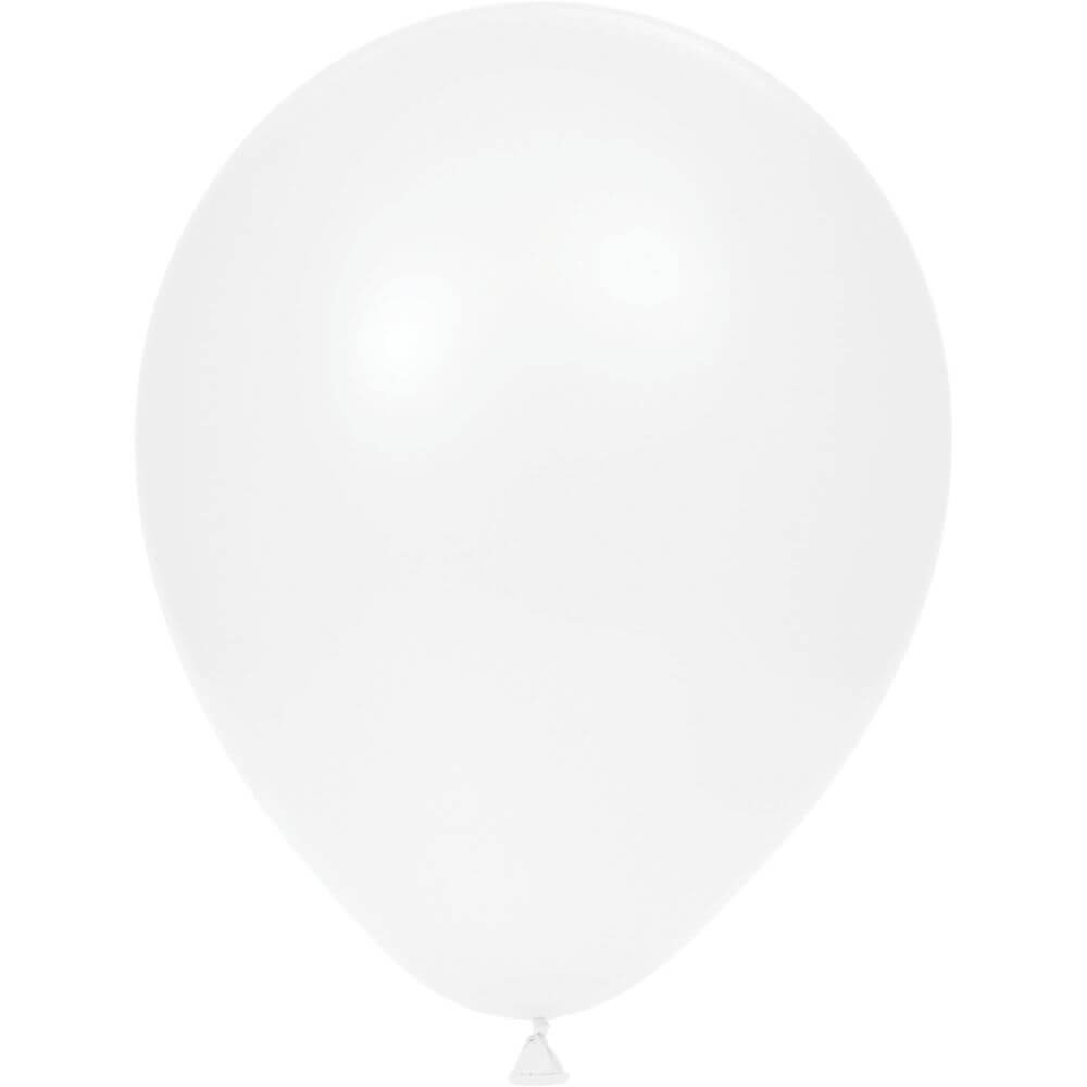 Latex Balloons 15Ct White 12In