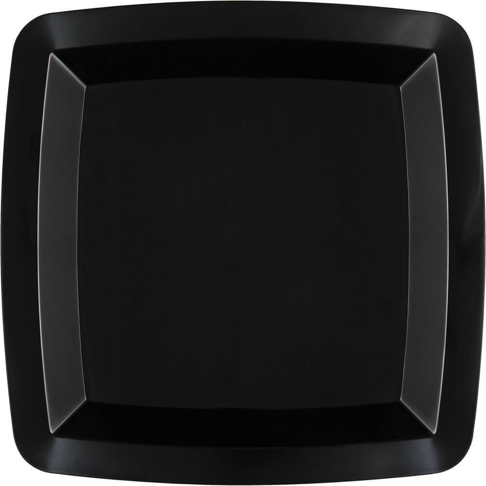Black Velvet, Plastic Plates Square 8ct 10in