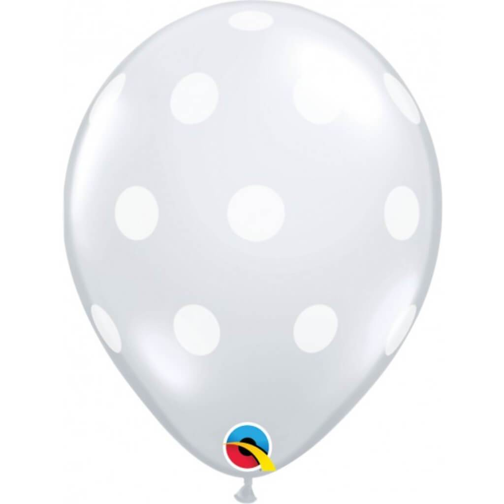 Big Polka Dots Clear Latex Balloon 11in