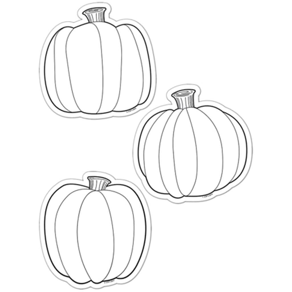 Color Me Pumpkins Cut-Outs  6in