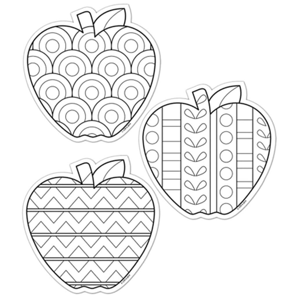 Color Me Apples Designers Cut-Outs 6in