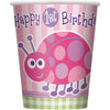 First Birthday Ladybug Paper Cups 9oz, 8ct